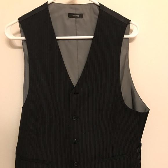 Jf J Ferrar Jackets Amp Coats Black And Grey Pinstriped